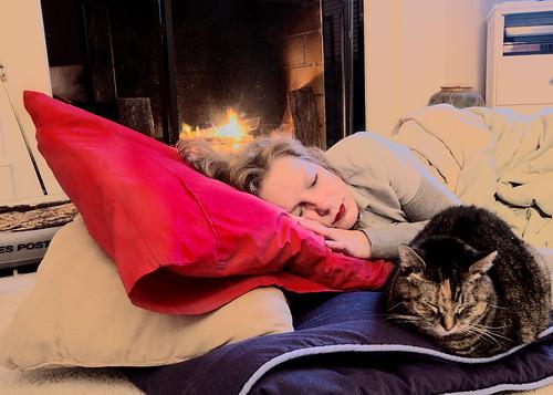 (Fireside) Laura Sleeps