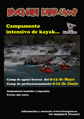 Kayak camp en pirineos occidentales