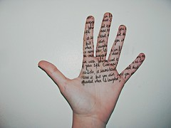 45/365 (() lightweight) Tags: writing hand finger fingers palm 45 365