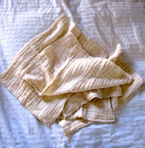 Soft baby rags *before*