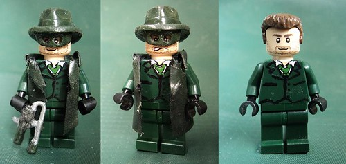 Custom minifig The Green Hornet - Britt Reed custom minifig