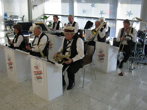 Picture of the Tenor Band in performance at another public library