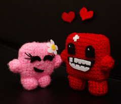 Bandage Girl loves Meat Boy