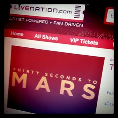 Going to see 30 Seconds to Mars in April