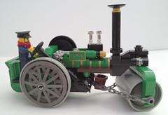 Steam Road Roller (bricktrix) Tags: lego steam steamroller roadroller
