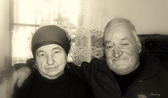 Grandparents... (Harlory) Tags: old portrait people nikon grandparents romania coolpix p100 nikonp100