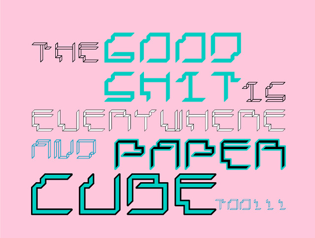 Paper Cube -paper version- Very soon available in dafont.com