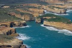 Rugged Coastline (Lathkill96) Tags: australia victoria aerial cliffs helicopter coastline greatoceanroad twelveapostles helicopterflight aerialphotography 12apostles gor