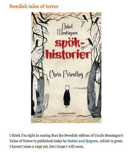 Chris Priestley, Onkel Montagues Spökhistorier