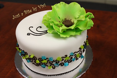 CANDIES AND FLOWER (JKC) 1 (Vivi :o)) Tags: birthday blue white flower green cake by nc big charlotte just bite vivi viviane decorated fondant waxhaw
