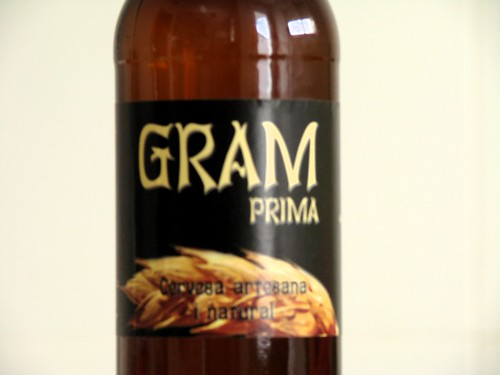 Cervesa Gram Prima - Detall Etiqueta
