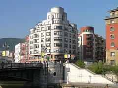 art deco on the riverbank in Bilbao (Adfoto) Tags: city architecture river spain bilbao stad architectuur spanje rivier