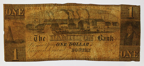 Hamilton Bank Boston One Dollar