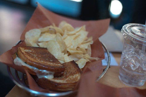 Grilled Tomato and Cheese with Pesto-Soho Park, New York