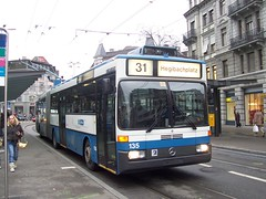 135 Lwenplatz (K. Reinhard) Tags: mercedes benz schweiz switzerland o 405 zrich trolleybus gtz vbz gelenkbus verkehrsbetriebe