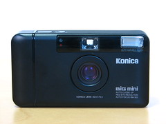 Konica Big Mini BM-302 (Jeckyll and Hyde) Tags: camera film big minolta gear mini bigmini bm302