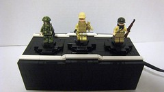 Motorized Minifigure Display Stand (The Brick Guy) Tags: stand lego display hazel motorized minifigures brickarms amazingarmory nightmaresystems unitedarmory