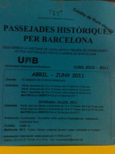 Passejades històriques per Barcelona