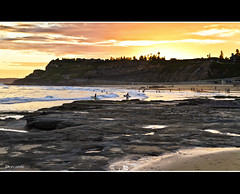 Not just another sunset (The0dora Photography) Tags: sunset sky colour beach water canon newcastle sigma 7d lightning 1770 dorcam16