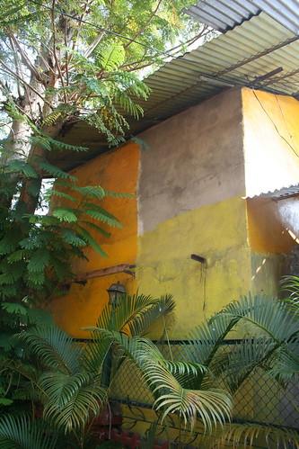 Det solgula i olika tappning från fasad i Indien. Varför välja när man kan få flera nyanser?