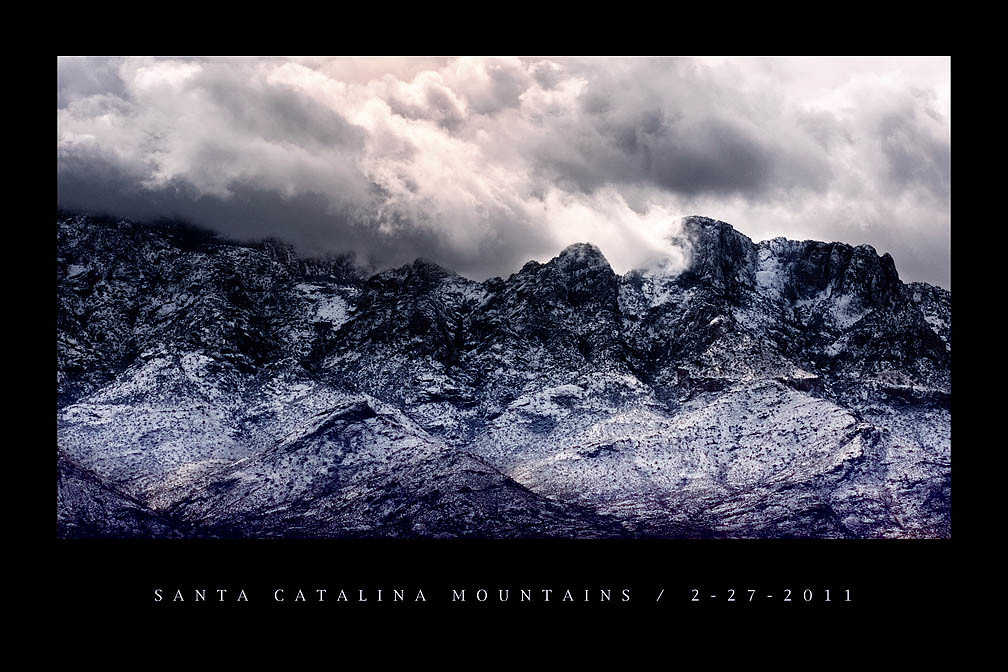 catalina mountains (print)