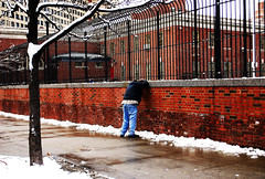 (Rachel Citron) Tags: nyc newyorkcity winter man sadness downtown solitude manhattan lonely gothamist asphalt desperation solitary desolate curbed redbricks decisivemoment concretejungle nikond40x thelocaleastvillage manhattanusersguide