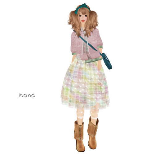 *evergreen*Retoro skirt(March-group gift)