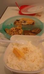 กินข้าวก่อนงานยังไม่เสร็จต้องรอลูกค้าอีก20นาทีกับข้าวเย็นไปมากแต่ก็ยังอร่อย :>