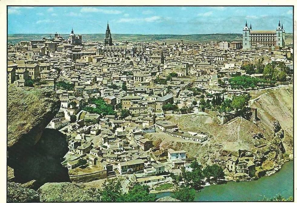 Toledo desde la Piedra del Rey Moro. Años 70