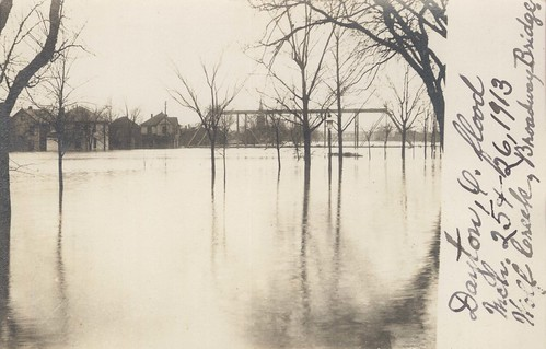 Broadway Bridge, Dayton, OH - 1913 Flood
