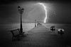 Darkness (windrides) Tags: night boats darkness greece thunderstorm nea halkidiki iraklia