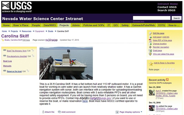 Nevada Water Science Center Intranet