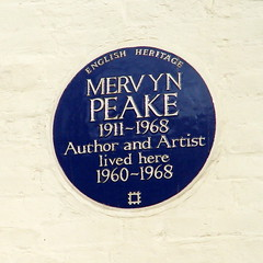 Photo of Mervyn Lawrence Peake blue plaque