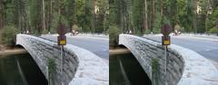 3D Pictures From Central California Trip (Redbeard Math Pirate) Tags: bridge trees forest nationalpark stereoscopic 3d crosseye stereo yosemite yosemitenationalpark stereopair threedimensional crossview sentinelbridge