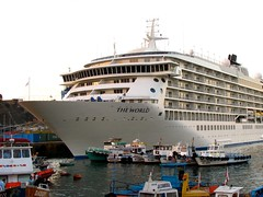 CRUCERO THE WORLD (Pablo C.M || BANCOIMAGENES.CL) Tags: chile puerto barco valparaso buque crucero theworld navo