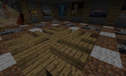 Floor Patterns Spiral In Your Step Survival Mode Minecraft