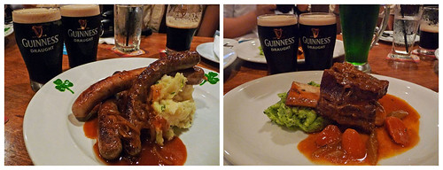 Malones - Irish Sausages with Colcannon, Malones Beef Ribs