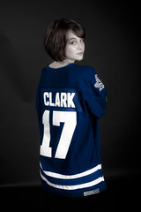 Go Leafs! (H.A.T. Photography) Tags: toronto hockey beautiful studio maple model gorgeous awesome stellar jersey backdrop 17 leafs ccm canoneos40d hatphotography wendalclark