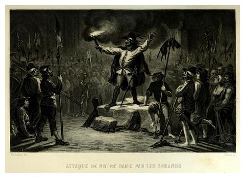 022-Ataque a Nuestra Señora por los truhanes-Notre-Dame de Paris 1844- edicion Perrotin Garnier Frères