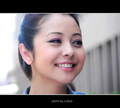 Angel Face #2 [explored] (e.nhan) Tags: light portrait art beautiful smile face closeup dof bokeh vietnam backlighting enhan