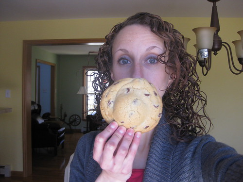 Cookie is the size of my face! Yikes!
