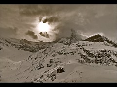 The Matterhorn in winter time. February 27 , 2011. No. 934. (Izakigur) Tags: liberty schweiz switzerland nikon europa europe flickr suisse suiza swiss feel zermatt matterhorn d200 nikkor svizzera wallis lepetitprince ch valais sussa suizo myswitzerland nikond200 nikkor1755f28 izakigur suisia laventuresuisse snowbaot izakigur2011 izakigurzermatt