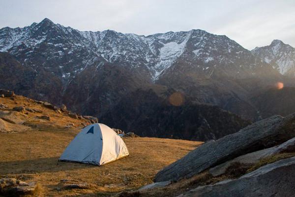 Triund campsite