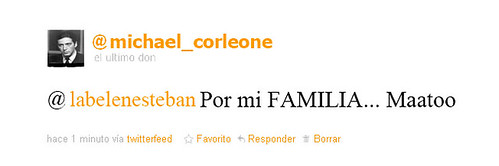el tweet de Michael Corleone a Belen esteban