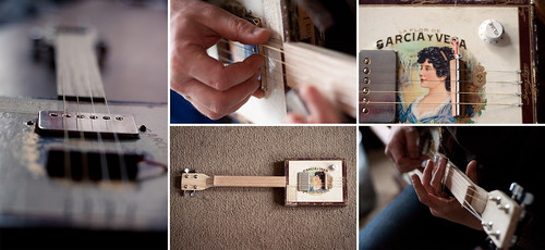 Cigar box guitar made by Shane
