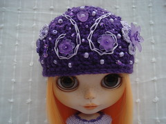 Hat in Lilac and Purple