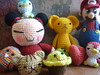Foto grupal :D (Le fabuleux destin d'Poline Poulain) Tags: doll pucca kerochan crochetdolls mariobrosamigurumi