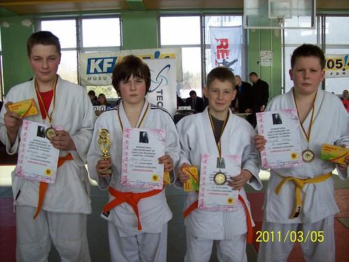 Iš kairės: Gintautas Gaučys, Nojus Kuzavas, Mindaugas Narkus ir Danielius Vaitkus (1999-2001m.)