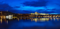 Prague Panorama (Philipp Klinger Photography) Tags: old city bridge light shadow sky urban panorama cloud mountain castle church water night clouds reflections river evening town nikon republic czech prague hill illumination praha tschechien most czechrepublic bluehour charlesbridge philipp vltava hrad hradcany ceskarepublika karluv republika strana staremesto prazskyhrad moldau klinger ceska prazsky d700 dcdead karluvmostcharlesbridgekarlsbrckekleinseitemalastranamala