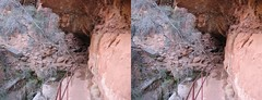 3D Parallel View Pictures From The Desert Express (Redbeard Math Pirate) Tags: nationalpark stereoscopic 3d stereo zion stereopair zionnationalpark parallel threedimensional parallelview canyonoverlooktrail